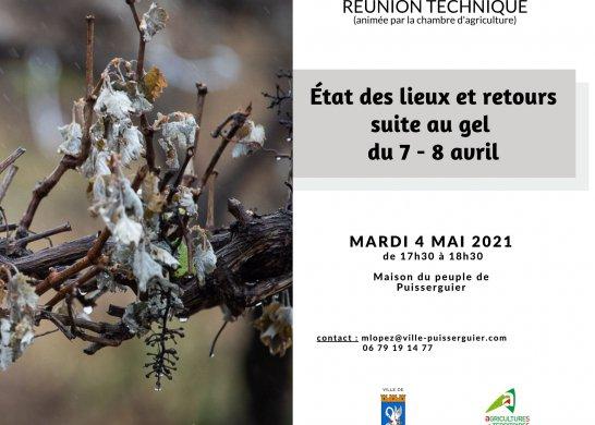 réunion gel du 7 8 avril